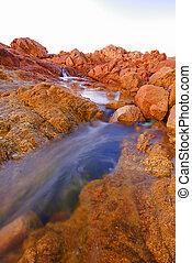 Tidal pool at the sea