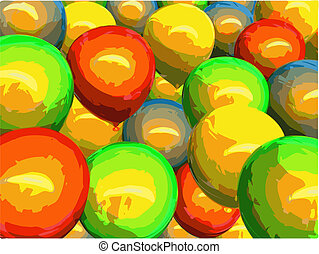 lot of balloons vector - lot of balloons, made in vector