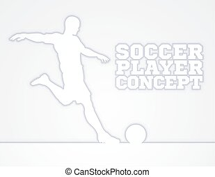 Soccer Football Player Concept Silhouette - A silhouette of...
