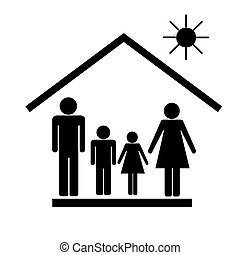 Family on white background.Vector illustration