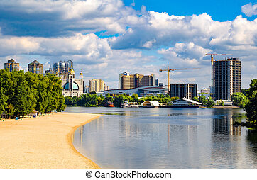 View of Kiev, UkraineBanks of the Dnieper river