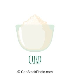 Curd icon on white background - Curd icon in flat style...