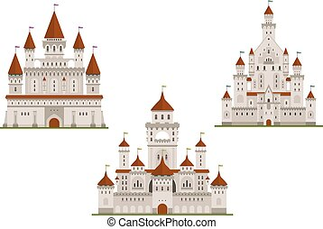 Medieval royal castle and palaces - Medieval royal castle or...
