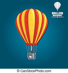 Hot air balloon with detailed elements