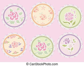 Fabric Stitches Shabby Chic