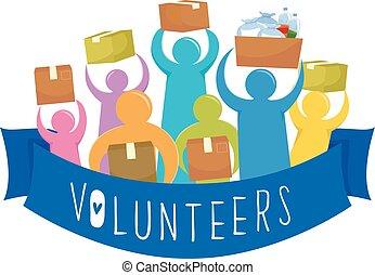 Ribbon Volunteers