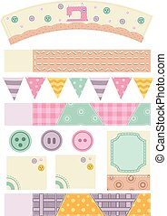 Sewing Printables - Illustration for a Ready to Print Party...