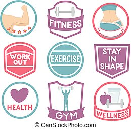 Exercise Gym Labels