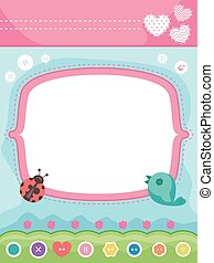 Sewing Party Invite Frame