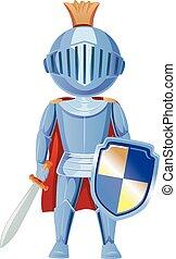 Kid Boy Knight - Illustration of a Boy Dressed as a Knight