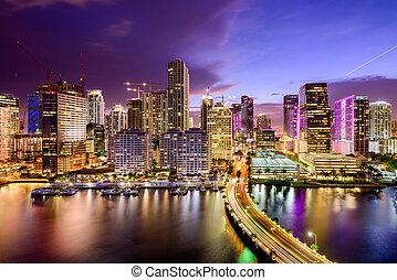 Miami, Florida Skyline - Miami, Florida, USA downtown...