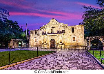 The Alamo at Dawn - The Alamo in San Antonio, Texas, USA.