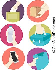 Donation Hands Icons