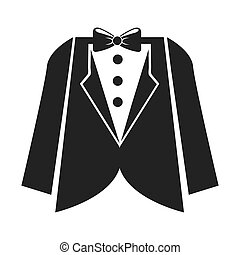 Mens wedding suit isolated icon design