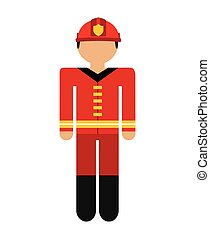 firefighter avatar isolated icon design, vector illustration...