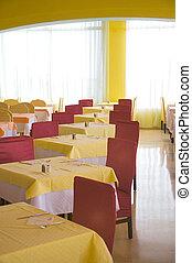 Modern interior in a restaurant
