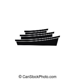 Wooden boat icon, simple style - Wooden boat icon in simple...