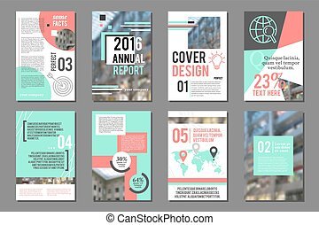 Annual report flyer. Business brochure design template....