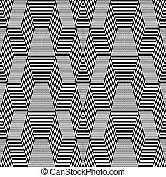 Seamless geometric op art pattern Vector art