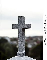 Concrete religious cross - Religious cross made of concrete,...
