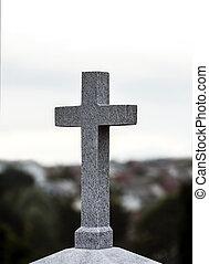 Concrete religious cross - Religious cross made of concrete,...