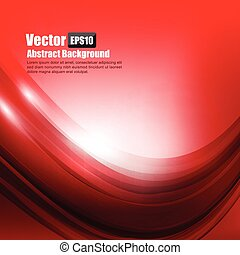 Abstract background Ligth red curve and wave element vector illustration 004