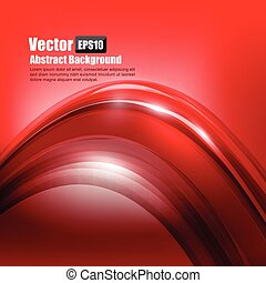 Abstract background Ligth red curve and wave element vector illustration 003