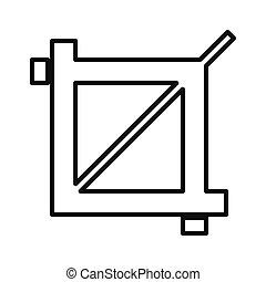 edit photo size isolated icon design, vector illustration...