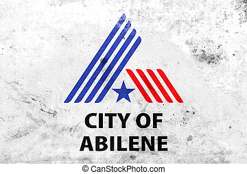 Flag of Abilene, Texas, USA, with a vintage and old look