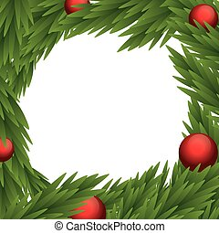 Sphere and pine tree icon Merry Christmas design Vector...