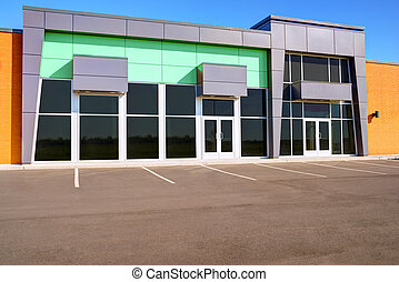 Generic store front - Unoccupied generic store front,...
