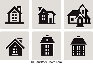 Houses icon set