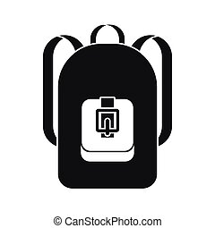 Backpack icon, simple style - Backpack icon in simple style...