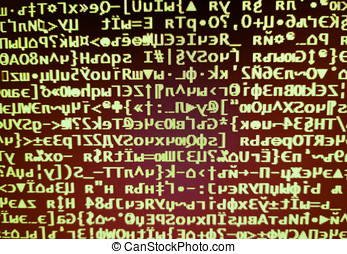 Brown hacker code on display console illustration background