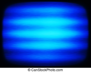 Horizontal vintage blue interlaced tv screen abstraction...