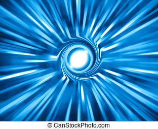 Horizontal blue space teleport swirl abstraction background