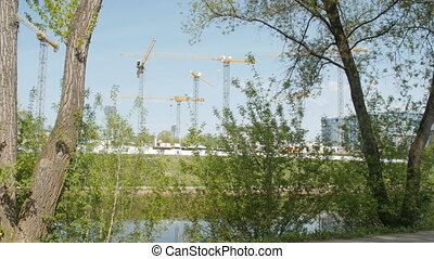 Building site near the river - building site near the river...