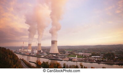 Nuclear Power Station Time Lapse