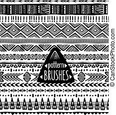 Set of ethnic pattern brushes