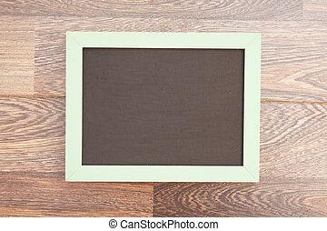 school wooden blank blackboard on wooden background