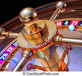gambling - 3d rendering of a roulette
