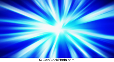 Horizontal blue blast abstraction background
