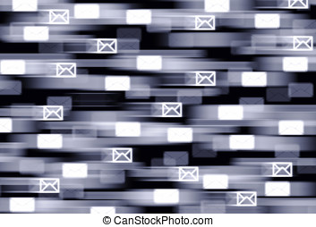 Horizontal fast mail delivery illustration background