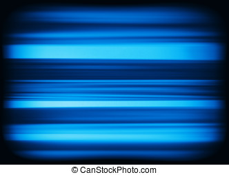 Horizontal vivid blue interlaced tv static noise lines...