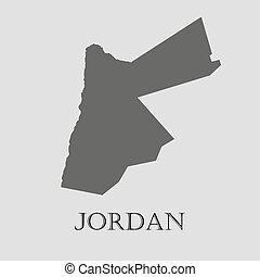 Gray Jordan map - vector illustration - Gray Jordan map on...