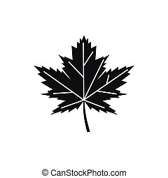 Maple leaf icon, simple style - Maple leaf icon in simple...