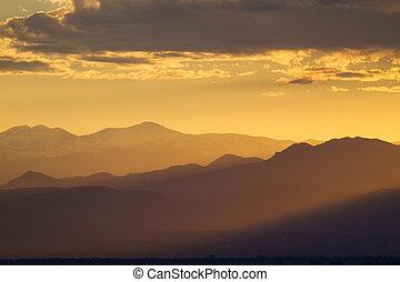 Colorado Mountain Magic - Magical Sunset in Colorado Rocky...