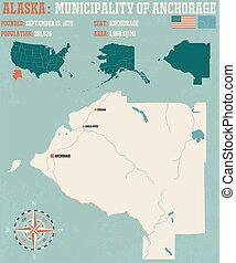 Municipality of Anchorage - Large and detailed map and infos...