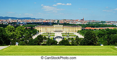 Schoenbrunn Palace in Vienna-view from Gloriette.