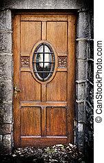 old dirty door